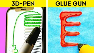 3D PEN vs GLUE GUN || These Hacks, DIYs And Crafts YOU NEED TO TRY ASAP!