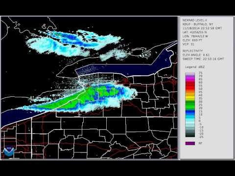 Buffalo Lake Effect Snow YouTube - Nws buffalo radar