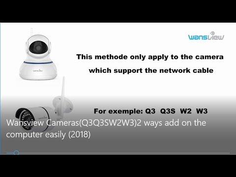 Wansview Cameras(Q3/Q3S/W2/W3):2 Ways Add on the Computer Easily (2018)