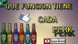Que función tiene cada Bebida/Perk - COD Black Ops 2 Zombie