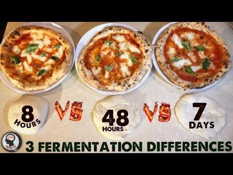 PIZZA DOUGH 3 Best Fermentation Times 8h Vs 48h Vs 7days