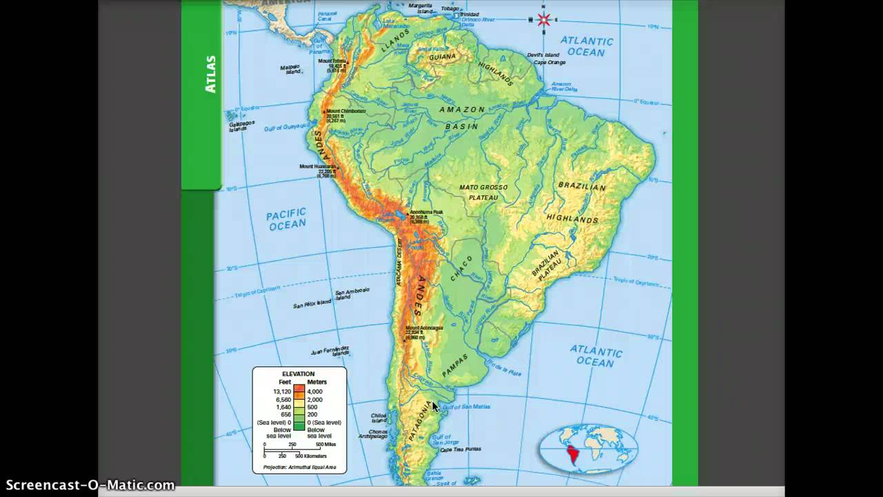 Physical And Political Geography Of South America YouTube - North america physical map test