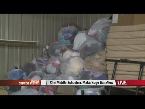 Kirn  Middle Schoolers Make Huge Donation