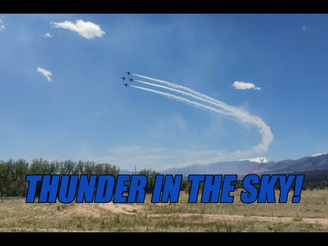 United States Air Force Thunderbirds Over Colorado Springs
