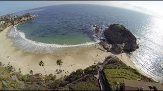 Coast Highway, Laguna Beach home at Three Arch Bay Aerial Drone Video