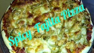 Spicy  Fajita  Pizza 🍕 Recipe.