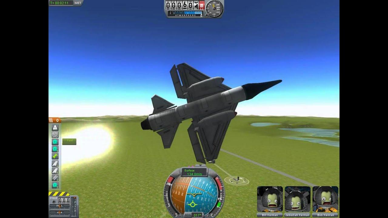 Kerbal space program Waldorfs fighter jet - YouTube