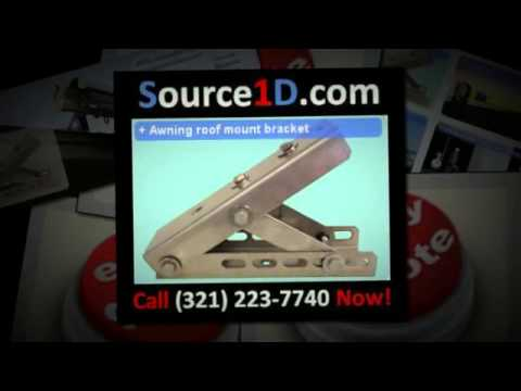 Universal Roof Mount Bracket For Retractable Awning Youtube