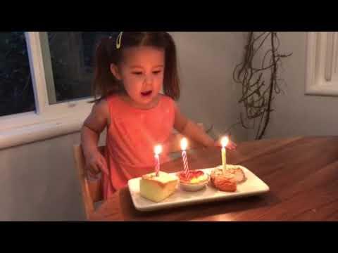 Celebrating Natalie's 2 and 3/4 birthday
