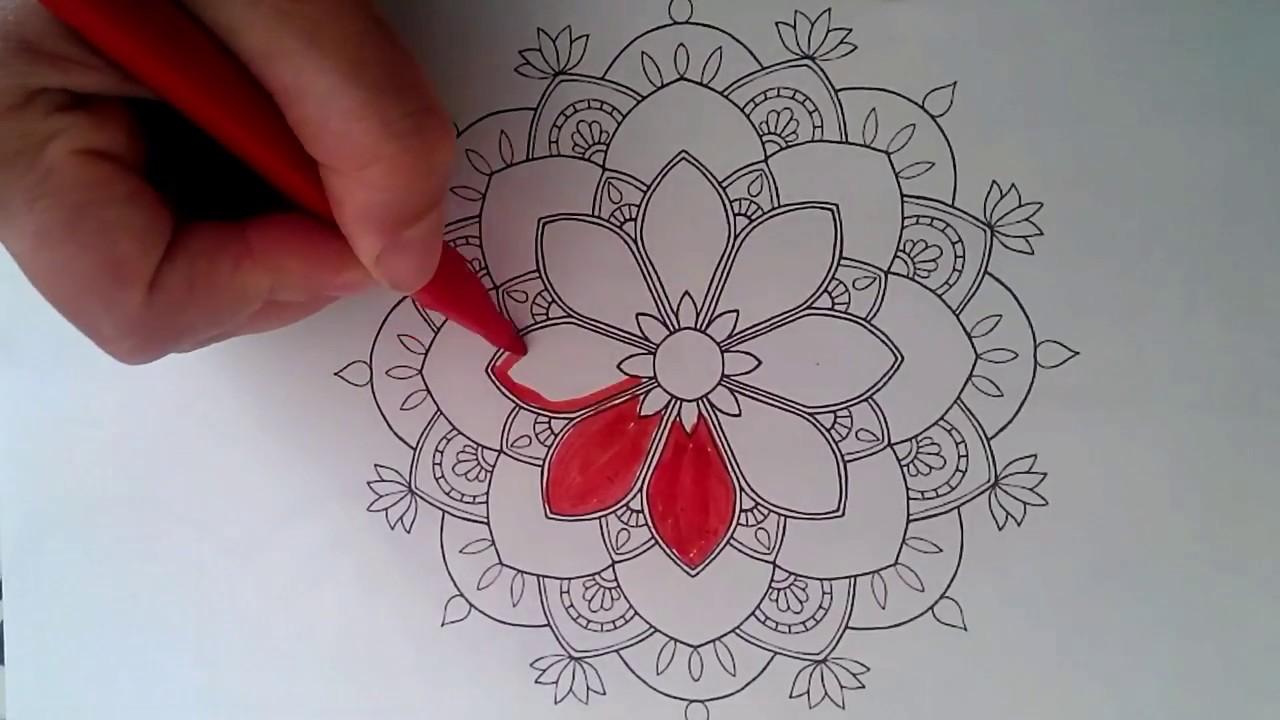 Mandala Boyama çiz Ve Boya Youtube