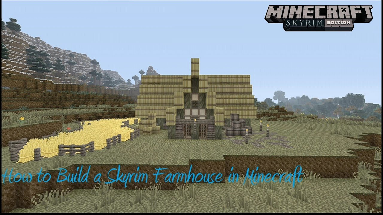 how to build a skyrim farm house in minecraft youtube