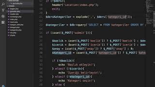 PHP Dersleri Ders 94 PDO ile FIND IN SET Kullanımı