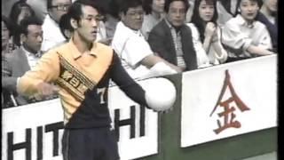 黒鷲旗 第37回(1988年)全日本バレーボール男子 決勝 新日鉄vs法政大学 第1セット