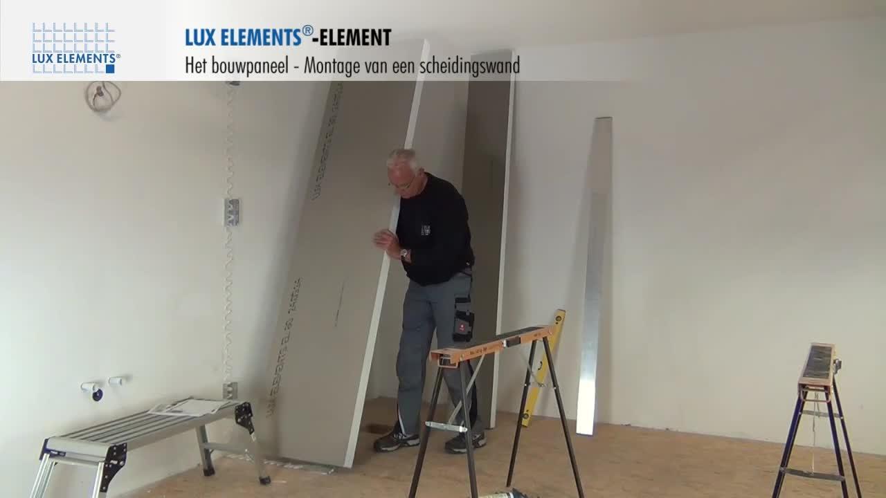 lux elements montage bouwplaat element als scheidingswand. Black Bedroom Furniture Sets. Home Design Ideas