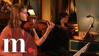Justin Taylor & Sophie de Bardonnèche - É. Jacquet de La Guerre: Sonata No. 1 - Empty Concert Hall