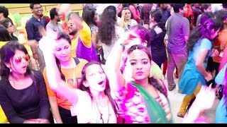 Colourless & waterless { holi like } celebration & dance in IT office | Scintillations - unplugged
