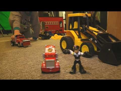 Thumbnail: Fun TOY Cars and Trucks KIDS PLAYING iMagination PLAYTIME