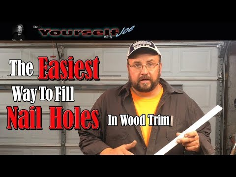 how to fill nail holes in trim