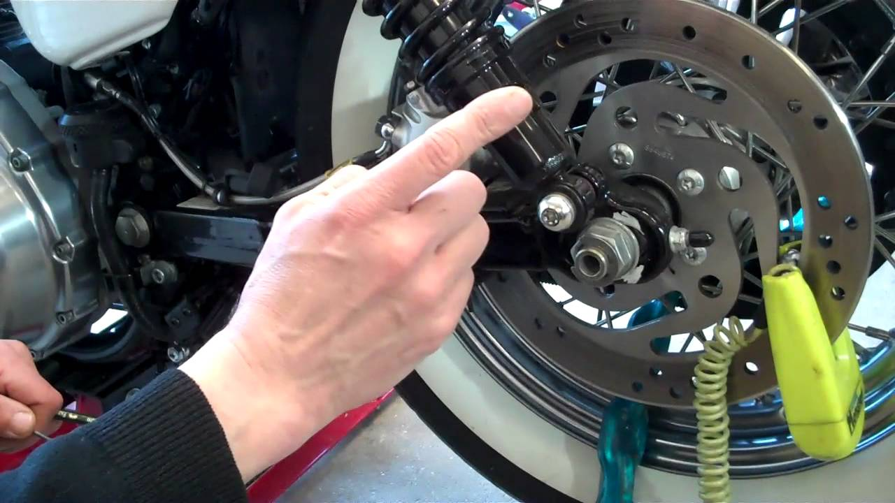 delboy's garage, harley davidson rear wheel alignment, made easy  - youtube
