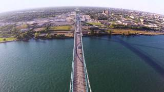 Ambassador Bridge Filmed With Dji Phantom 2 Drone, Part 2 (connects Detroit, Usa To Windsor, Canada)