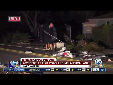 2-vehicle rollover crash near Lake Worth