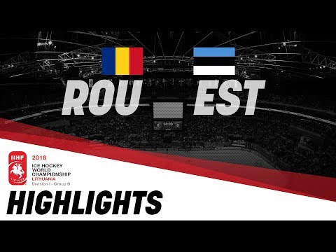 Romania-Estonia | Highlights | 2018 IIHF Ice Hockey World Championship Division I Group B
