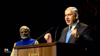 PM Netanyahu and Indian PM Modi Attend Event with the Indian Community in Israel