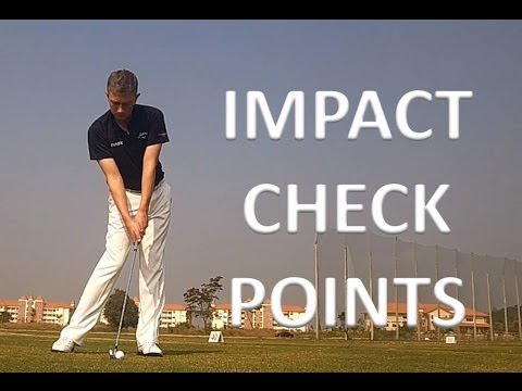 Golf Impact Position Check Points