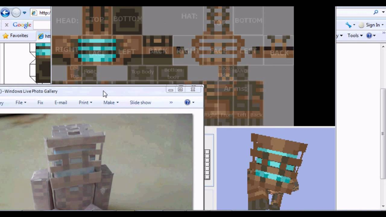 how to make a minecraft intro with your skin