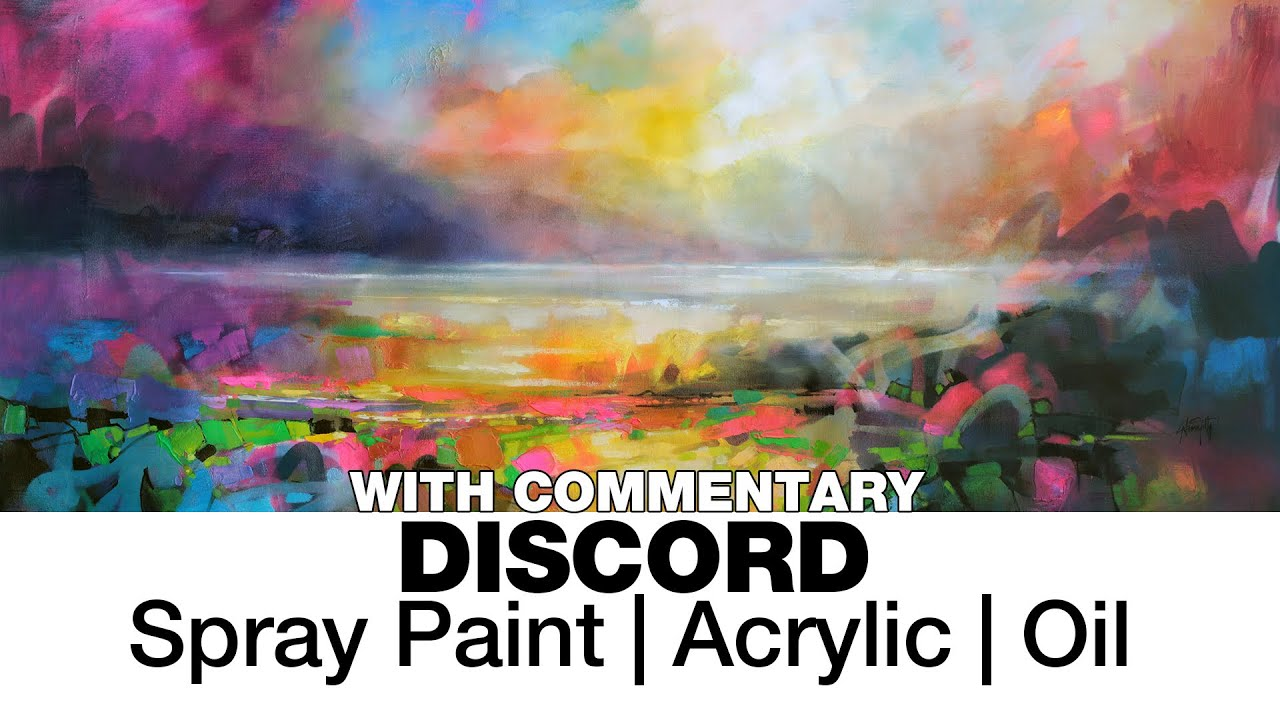 Discord spray paint acrylic and oil painting demo youtube for Oil or acrylic