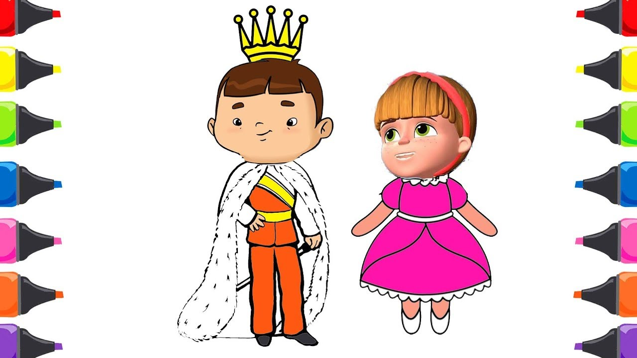 Ozi Istanbul Muhafızları Prens Prenses Boyama Renkleri öğreniyorum