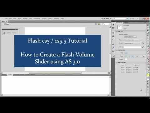 Adobe Flash cs5 / 5.5 Tutorial: Creating a Flash As 3.0 Volume Slider , Part 1