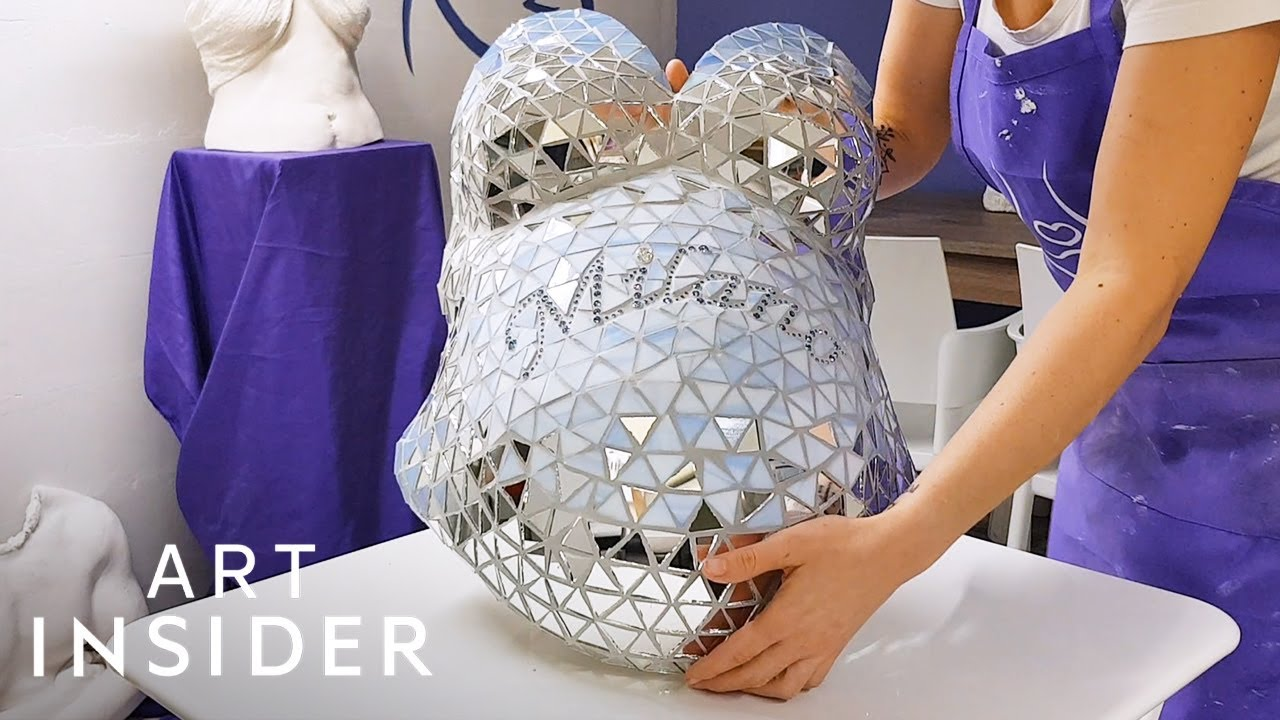 Artist Creates Blinged-Out Belly Casts