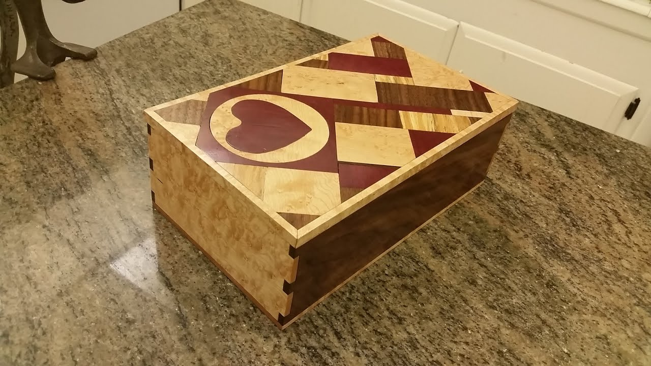 Inlay Jewelry Box with trays YouTube