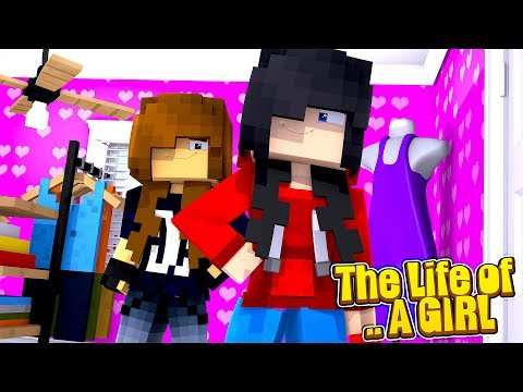Minecraft LIFE OF - ROPO & JACK LIVE THE LIFE OF 2 GIRLS!!!
