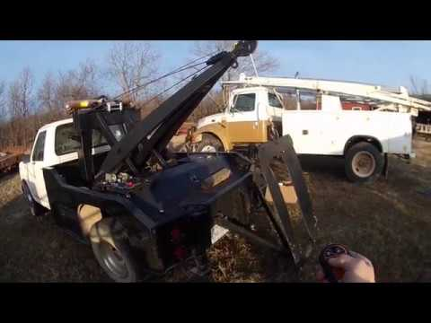 holmes 440 wrecker bed electric winch conversion