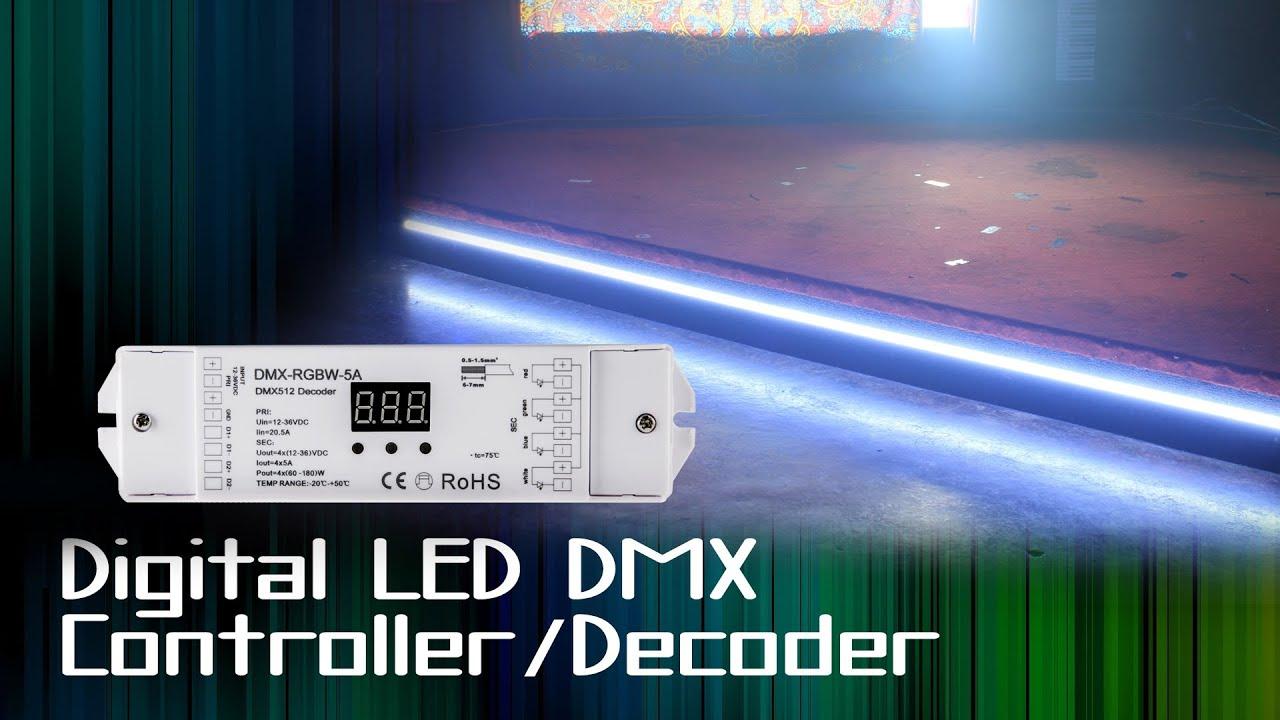 LED Digital DMX Controller Decoder 4 Channel