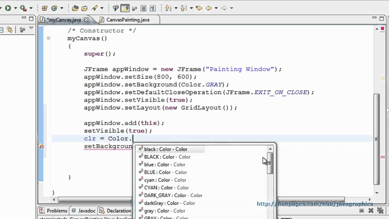 Java graphics tutorial 2 creating canvas on a window youtube java graphics tutorial 2 creating canvas on a window baditri Image collections