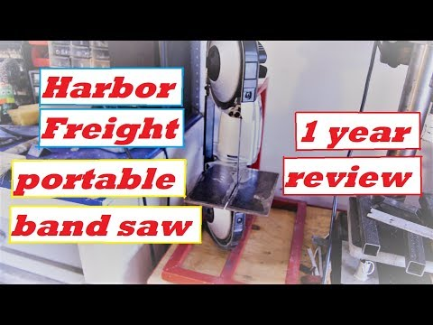 Harbor Freight portable band saw 1 year review - YouTube