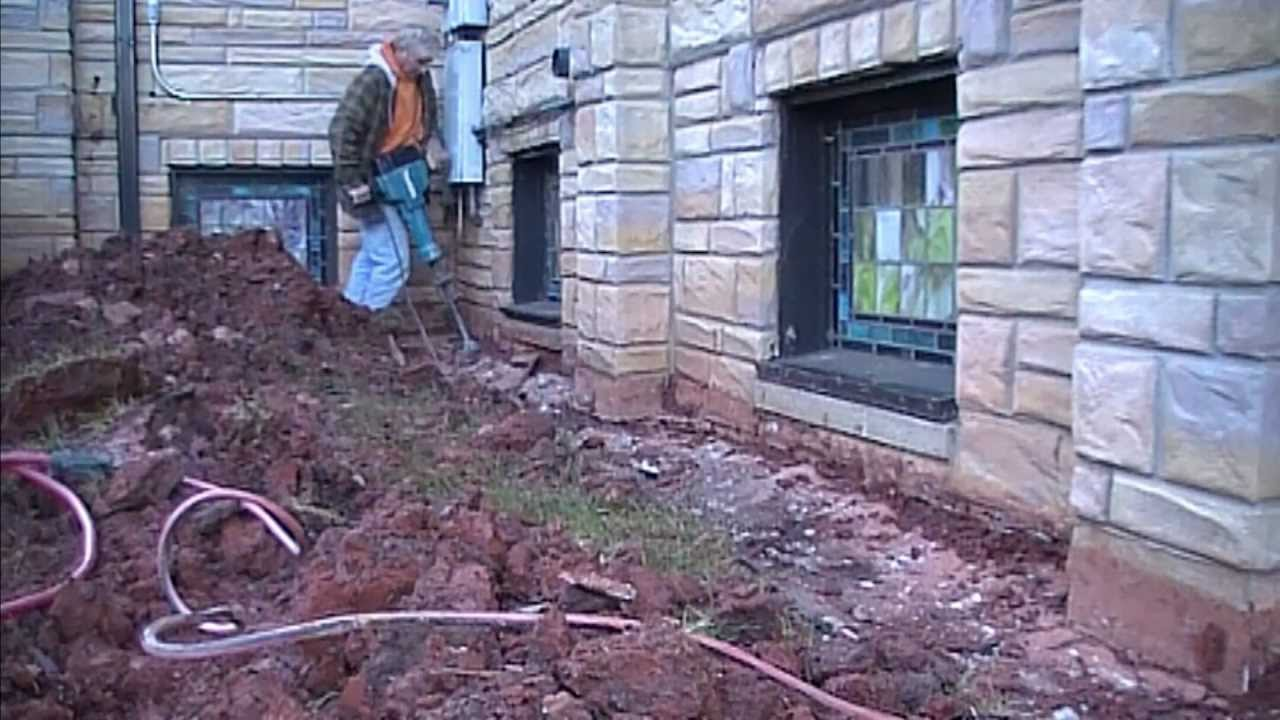 Good How To Waterproof Exterior Basement Wall, Seal, Footer Tiles And Sump Pump    YouTube
