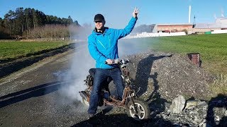 50cc scooter tire and clutch burnout