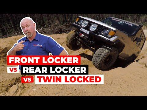 Front Locker vs Rear Locker vs Twin locked Differential - Off Road test comparison