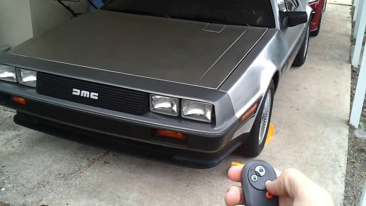 DeLorean remote door launchers & DeLorean remote door launchers - YouTube