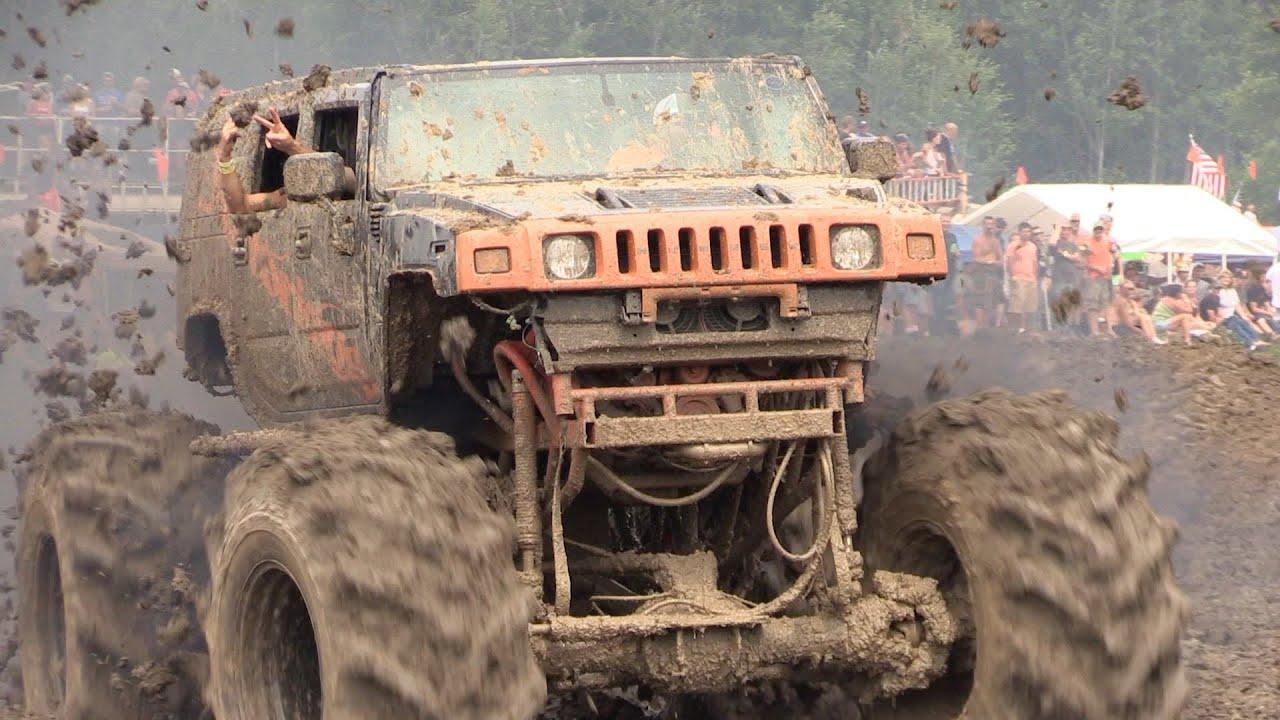 Diesel Mud Trucks Rolling Coal - Michigan Mud Jam