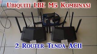 Gambar cover 2 Router Tenda AC11 Kombinasi Dengan Ubiquiti LiteBeam M5