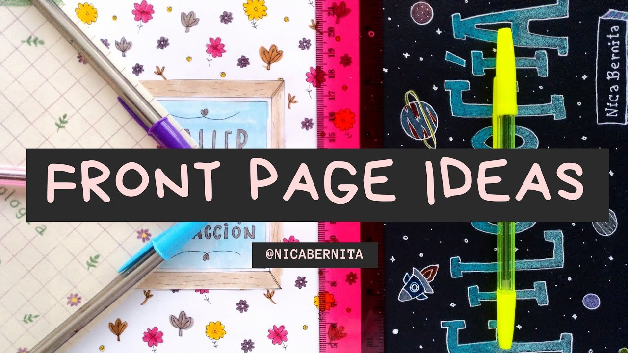 FRONT PAGE DESIGN for PROJECT DIY: NOTEBOOK COVER IDEAS ...