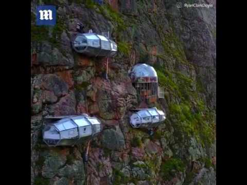 World most dangerous hotel / curiousity / nature hotel /cuaco, Peru.
