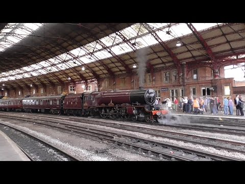 LMS Princess Royal 46201 'Princess Elizabeth' at Bristol Temple Meads Railway Station