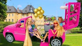 Barbie Limo & Fashionistas Playset boneka Barbie mainan Limousine Brinquedo da boneca