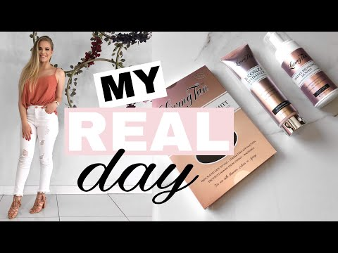 WHAT I DO IN A DAY | events, selftan & skincare